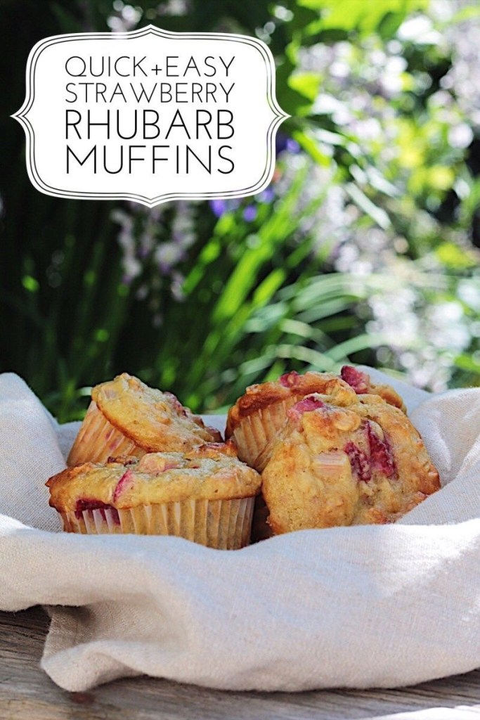 Quick Easy Healthy Strawberry Rhubarb Muffins With Oatmeal