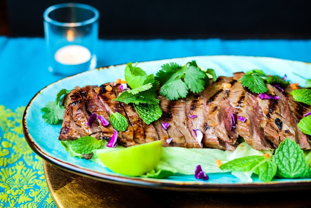 Thai Flank Steak, Healthy and Lean
