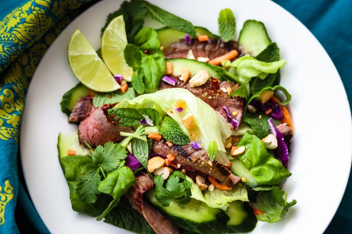 Healthy Easy Thai Salad With Light Chili Lime Dressing