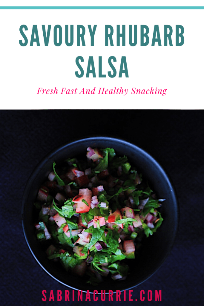 Savoury Rhubarb Salsa Recipe-Healthy and Easy