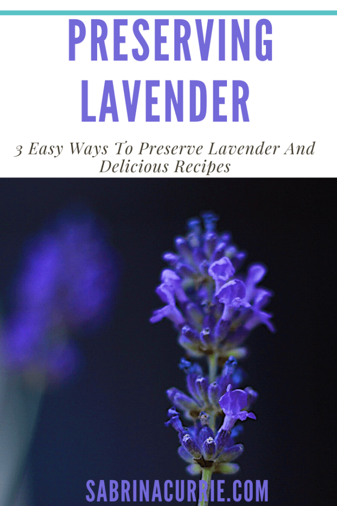 Using And Preserving Edible Lavender