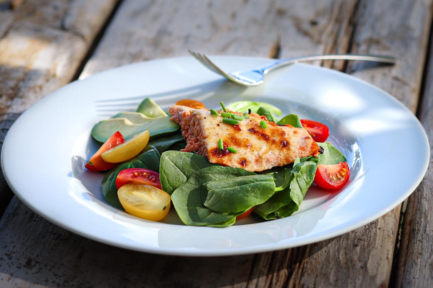 Roasted Miso Glazed Salmon