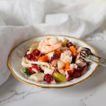 Sardo Marinated Seafood for Festive Fettuccini Alfredo Recipe
