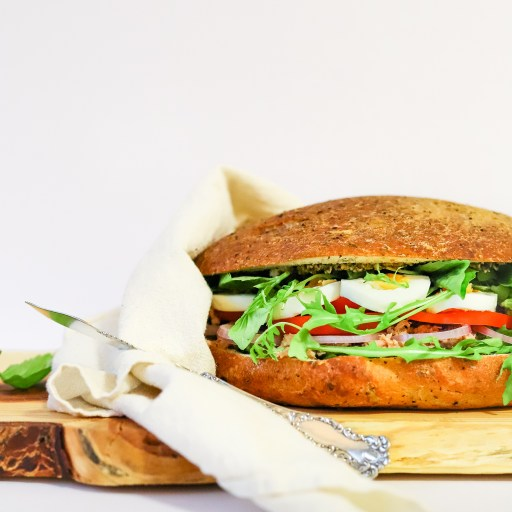 Nicoise Muffuletta Sandwich Recipe From Sabrina Currie for Edible Vancouver Island Magazine
