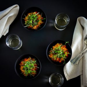 Recipes To Use Microgreens-Carrot Risotto With Micro Herb Salad