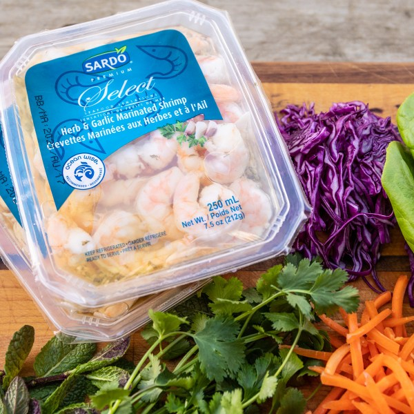 Summer rolls with Sardo shrimp