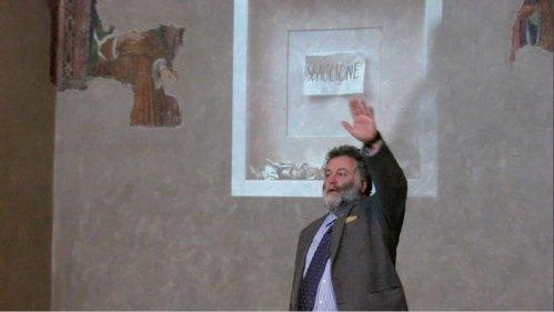 """Sabrina D'Alessandro, Jean Blanchaert, """"Asta di parole"""", """"Sbaglione"""", Basilica di Sant'Ambrogio, Milano 2014, URPS, Ufficio Resurrezione Parole Smarrite"""