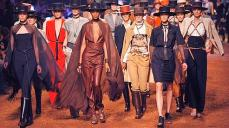 Models wear creations by French designer Jean-Paul Gaultier for Hermes' ready to wear spring-summer 2011 fashion collection, presented in Paris, Wednesday, Oct. 6, 2010. (AP Photo/Jacques Brinon)
