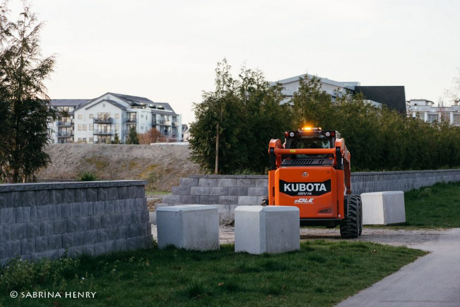 Blocking access to redevelopment of site on No. 2 Road in Steveston