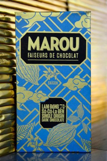 Une des 5 varietes de la gamme de chocolat Marou. Le cacao de ce grand cru est produit a l?oree des Hauts plateaux centraux du Vietnam.