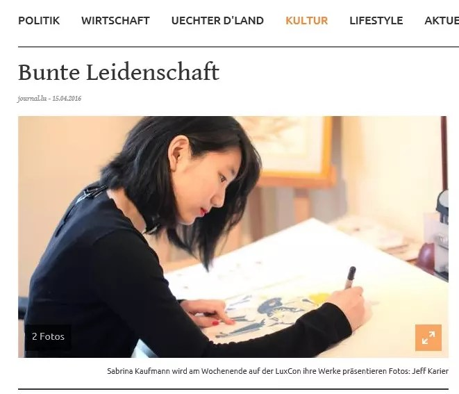 Bunte Leidenschaft, Lëtzebuerger Journal, 15/04/2016 ​Interview & photos by Jeff Karier ​
