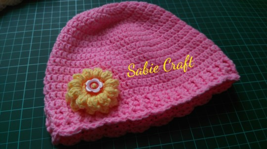 Beanie for baby girl 3-6 mo
