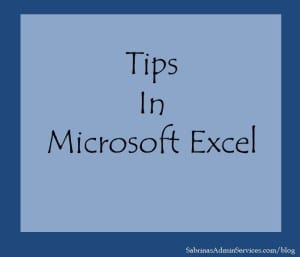 Tips in Microsoft Excel