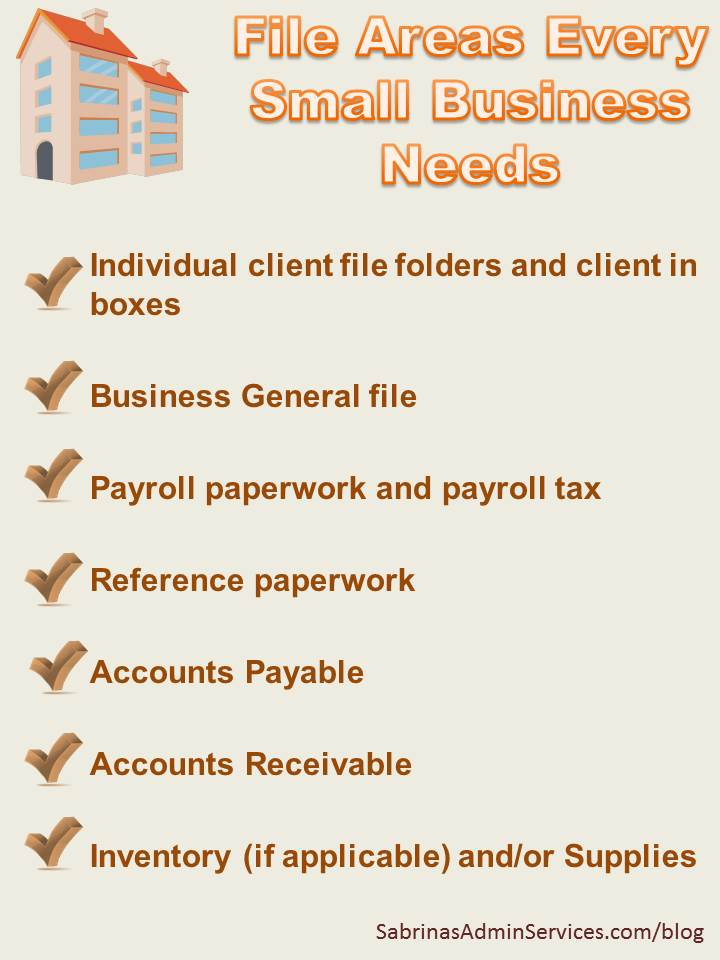 File areas every small business needs
