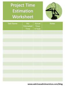 project time estimation spreadsheet free download