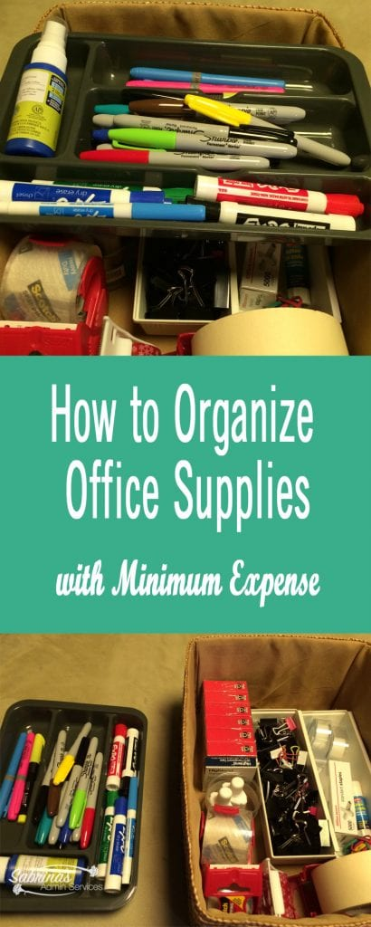How to Organize Office Supplies with Minimum Expense