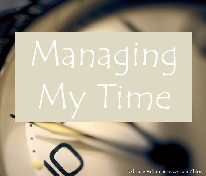 managing my time more effectively