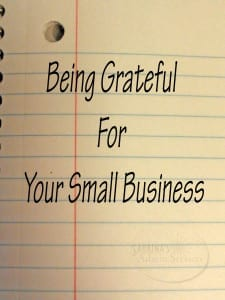 Being grateful for your small business
