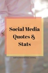 Social Media Quotes And Stats | Sabrina's Admin Services #social #media #quotes #stats