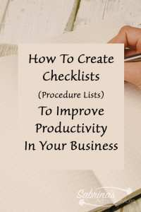 How to create checklist or procedure lists to improve productivity in your business