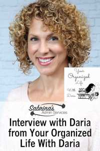 Interview with Daria from Your Organized Life With Daria
