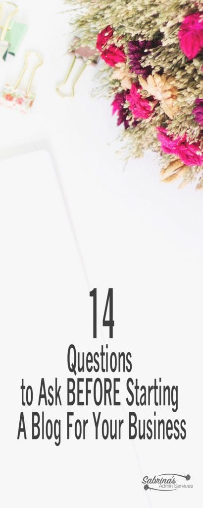 14 questions to ask before starting a blog