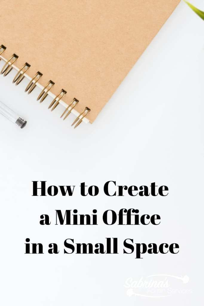 How to Create a Mini Office In a Small Space