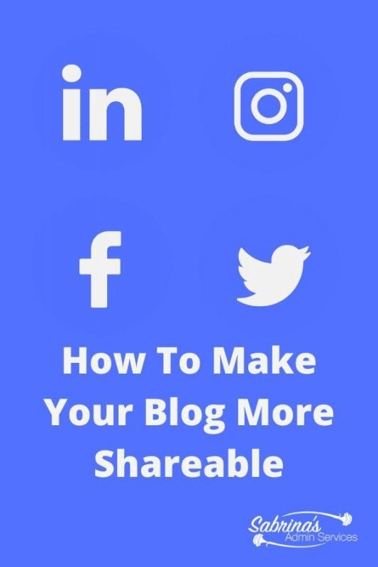 How To Make Your Blog More Shareable