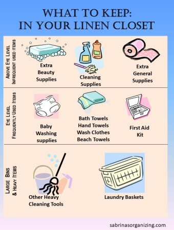 What to Keep in your linen closet