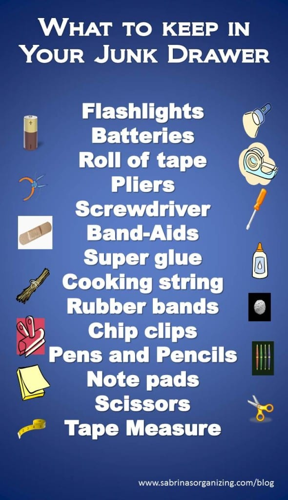 what to keep in your junk drawer, Junk Drawer Items List