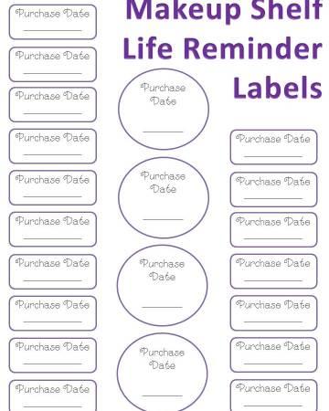 makeup shelf life reminder labels