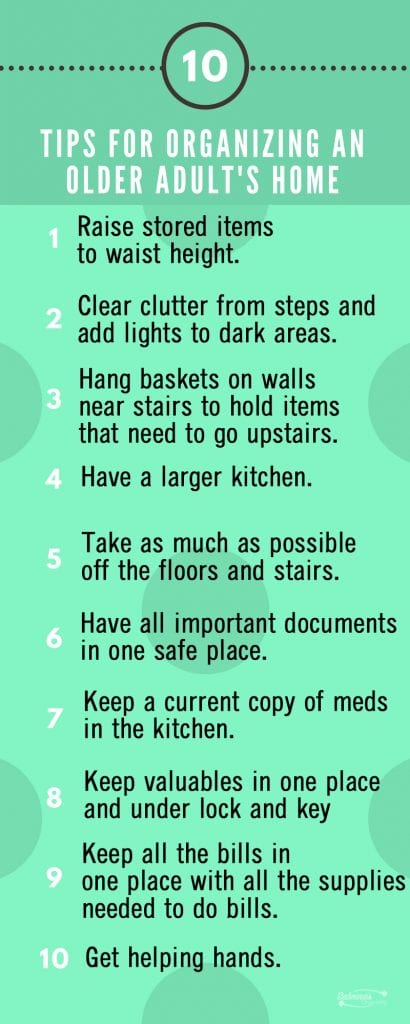 10 Tips for Organizing An Older Adult's Home
