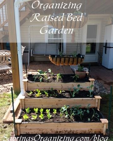 organizing raised bed garden | Sabrina's Organizing