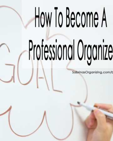 how to become a professional organizer