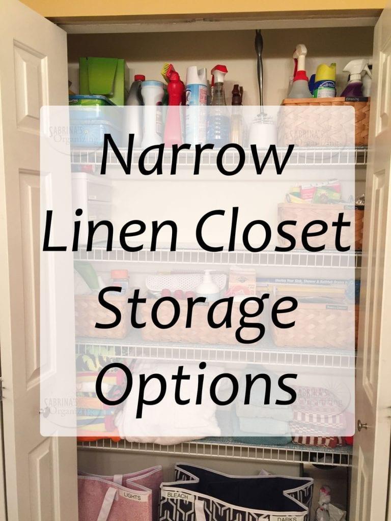 Narrow Linen Closet Storage Options Made Easy