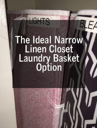 The Ideal Narrow Linen Closet Laundry Basket Option