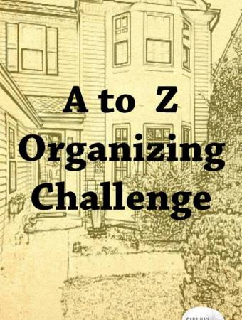 A to Z organizing challenge