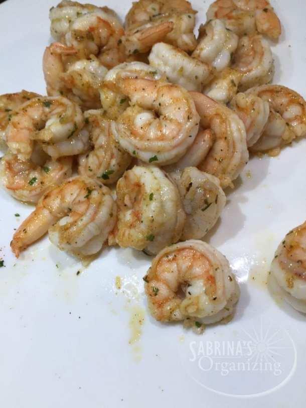 partially cooked shrimp | Sabrina's Organizing
