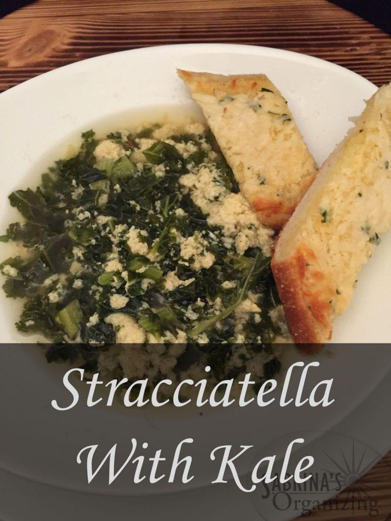 Stracciatella With Kale Soup Recipe| Sabrina's Organizign