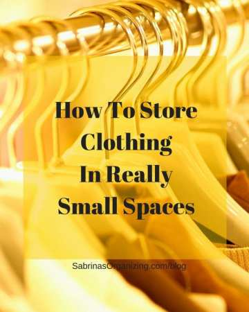 How To Store Clothing In Really Small Spaces #clothing #organizing