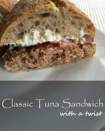 classic tuna sandwich with a twist