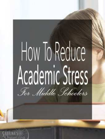 How To Reduce Academic Stress For Middle Schoolers