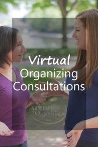 Virtual Organizing Consultations by Sabrina's Organizing
