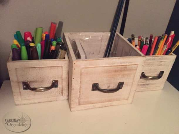 how to upcycled planters into a desk pencil holder