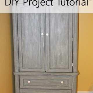 Chalk Paint Armoire DIY Project Tutorial