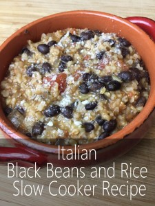 Italian Black Beans and Rice Slow Cooker Recipe