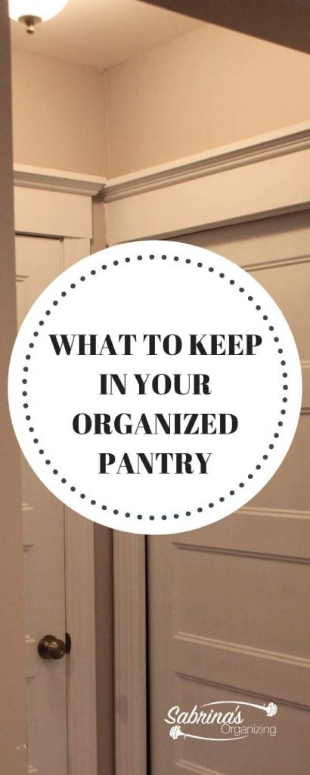What to keep in your organized pantry
