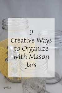 9 Creative Ways to Organize Mason Jars