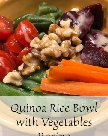 Quinoa Rice Bowl with Vegetables Recipe
