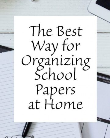 organizing school papers at home